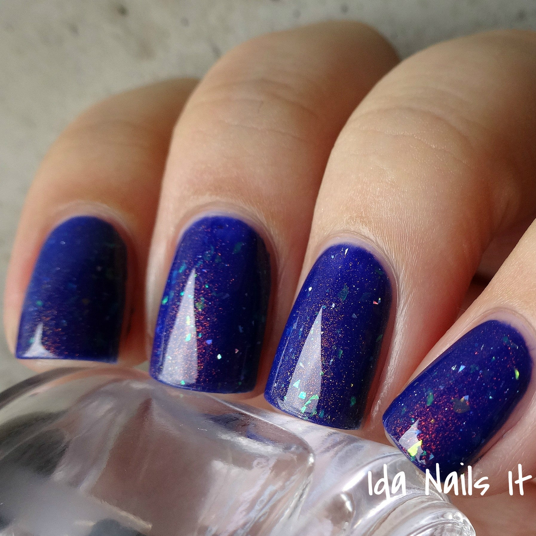 Alhambra - Blue Jelly Polish w/ Flakies & Holo Shards - Baroness X