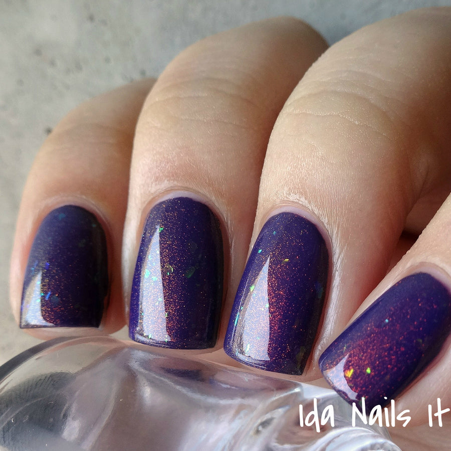 Dulcinea - Violet Jelly Polish with Flakies and Red to Green Pigment