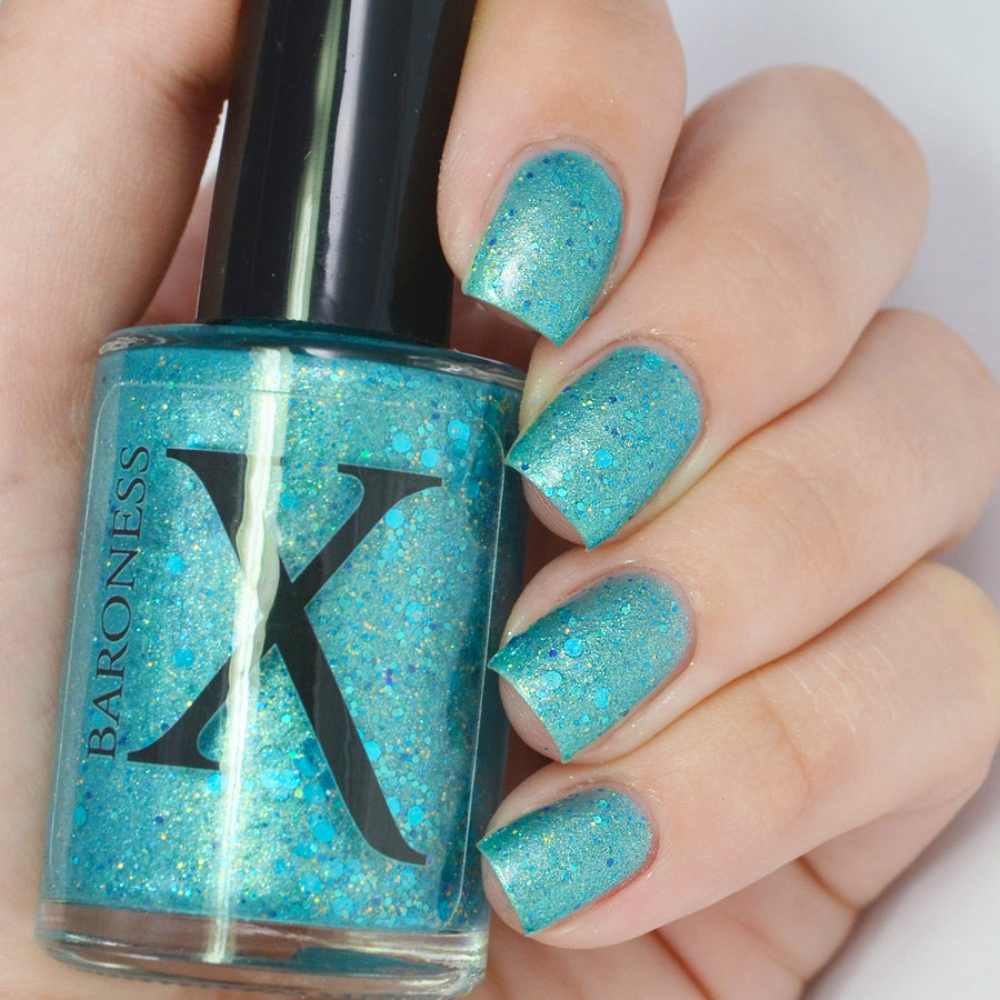 Nail Polish - Mermaid Madness - Turquoise Mermaid Polish W/ Shimmer And Glitter