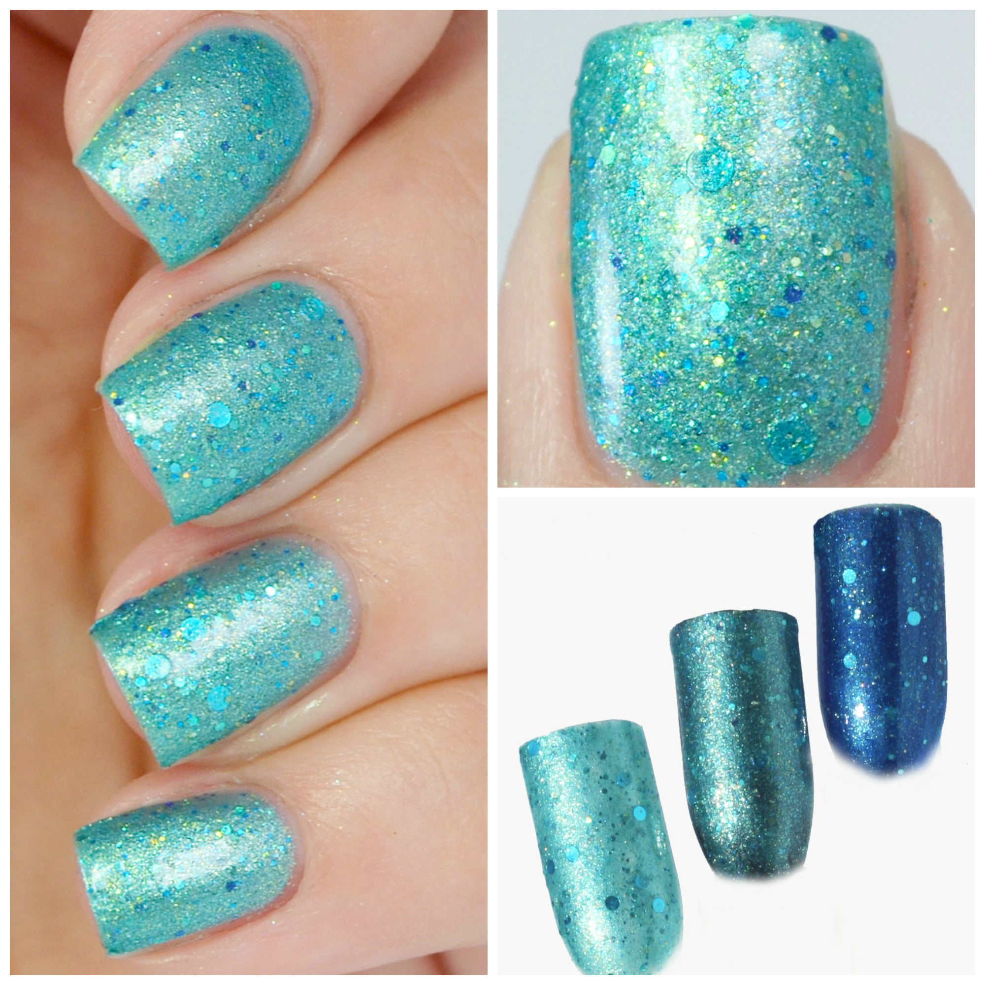 Azul Agave - Aqua Crelly w/ Blue to Purple Shimmer - Baroness X