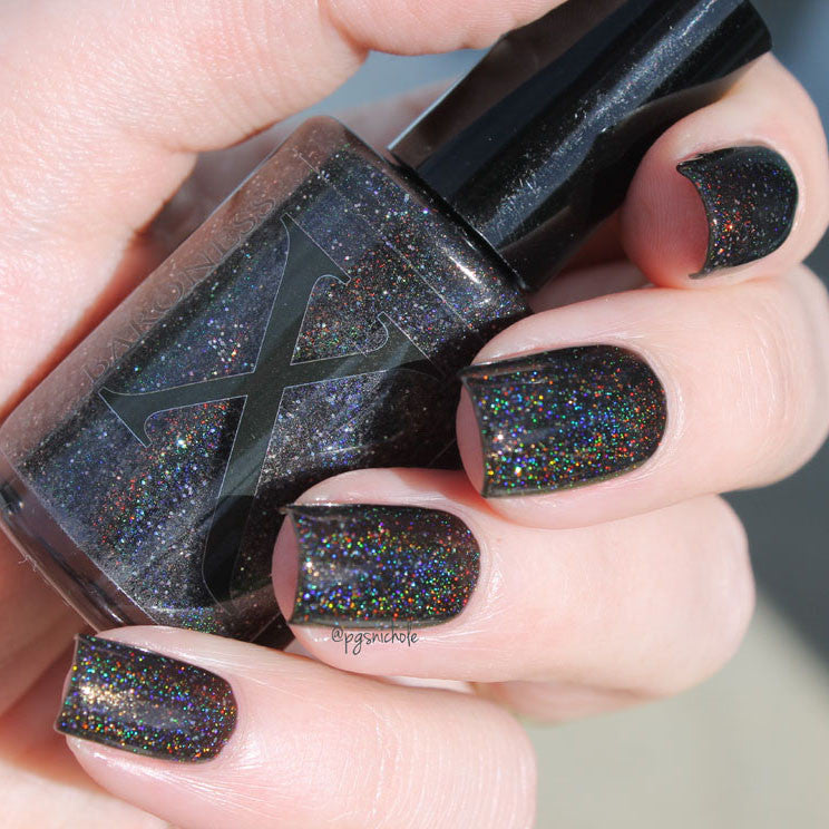 Nail Polish - Mirror, Mirror - Pitch Black Holographic Nail Polish