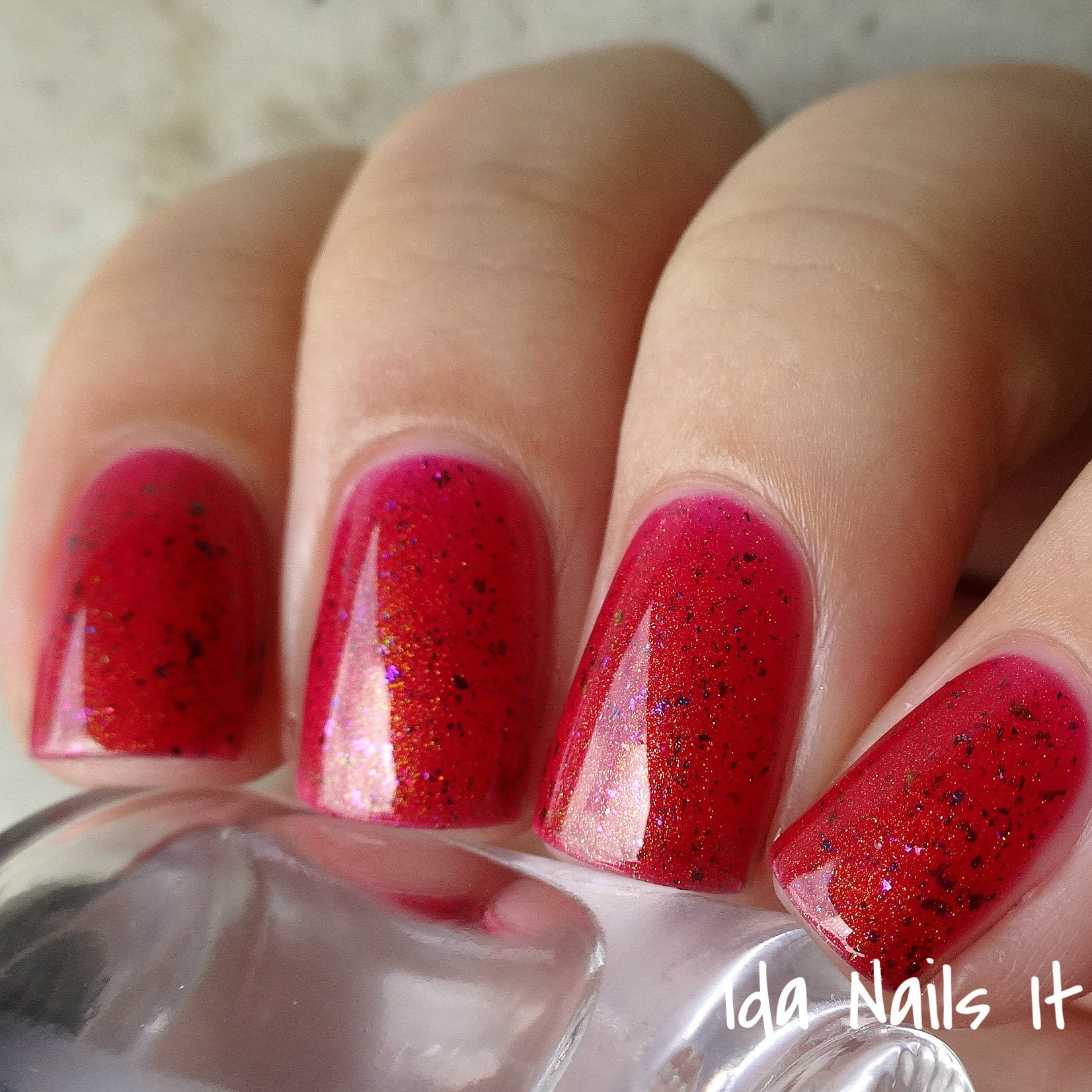 Molino - Berry Red Jelly with Rainbow Flakies and Gold to Blue ...