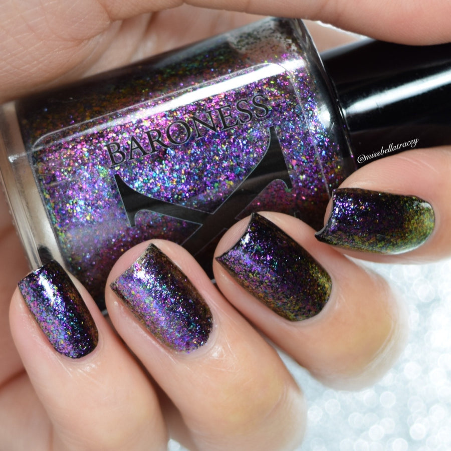 Nail Polish - Mystifying Magenta - UltraDENSE Chrome Flakie Polish