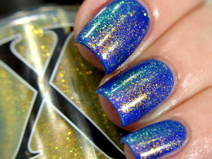 Nail Polish - Oz - Gold To Blue Shifting Topper