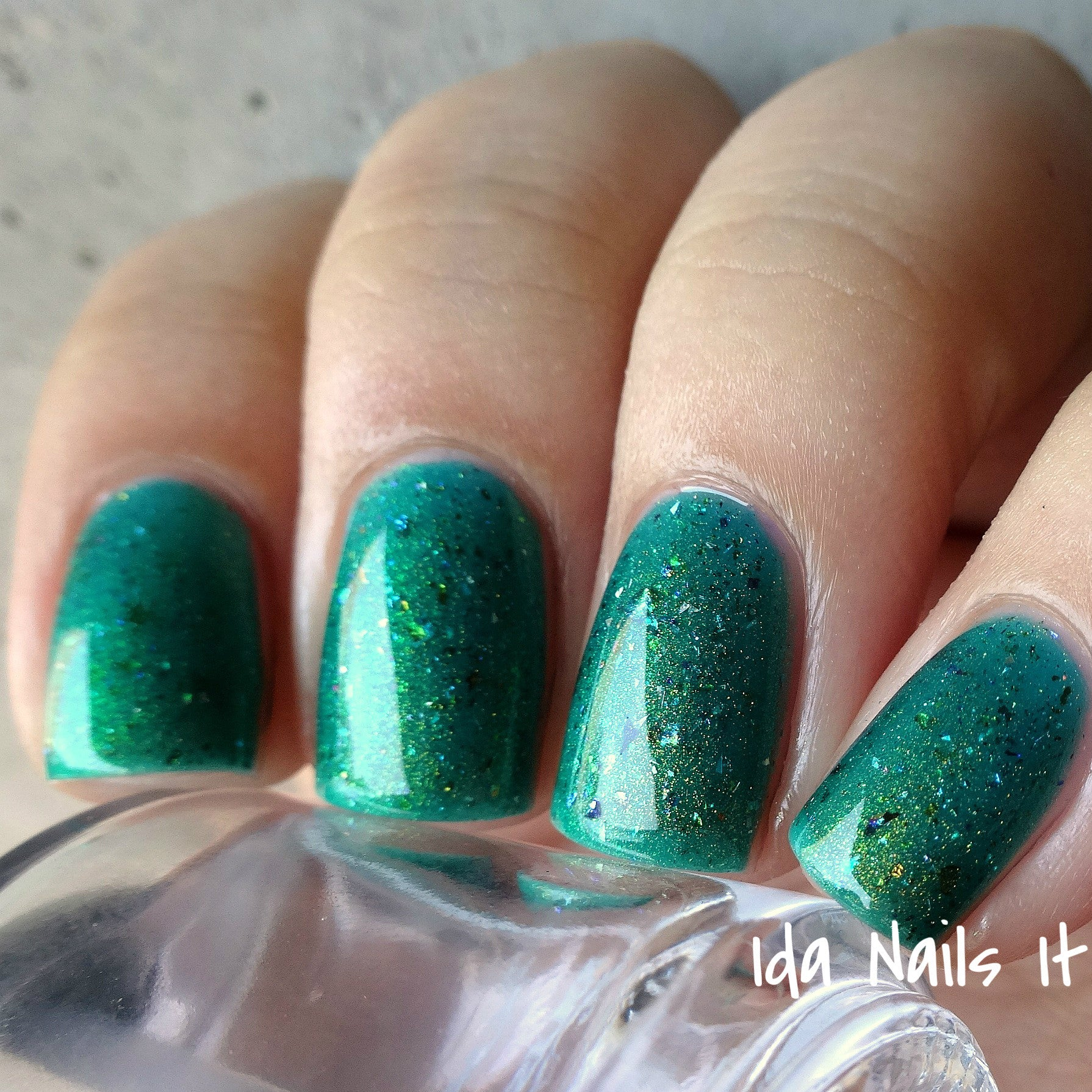 Quixotica - Teal Jelly w/ Rainbow Flakies, Holo Micro Shards and ...