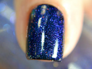 Nail Polish - Realist - Indigo Pigment With Blue To Red Shifting Chromaflair Microglitter