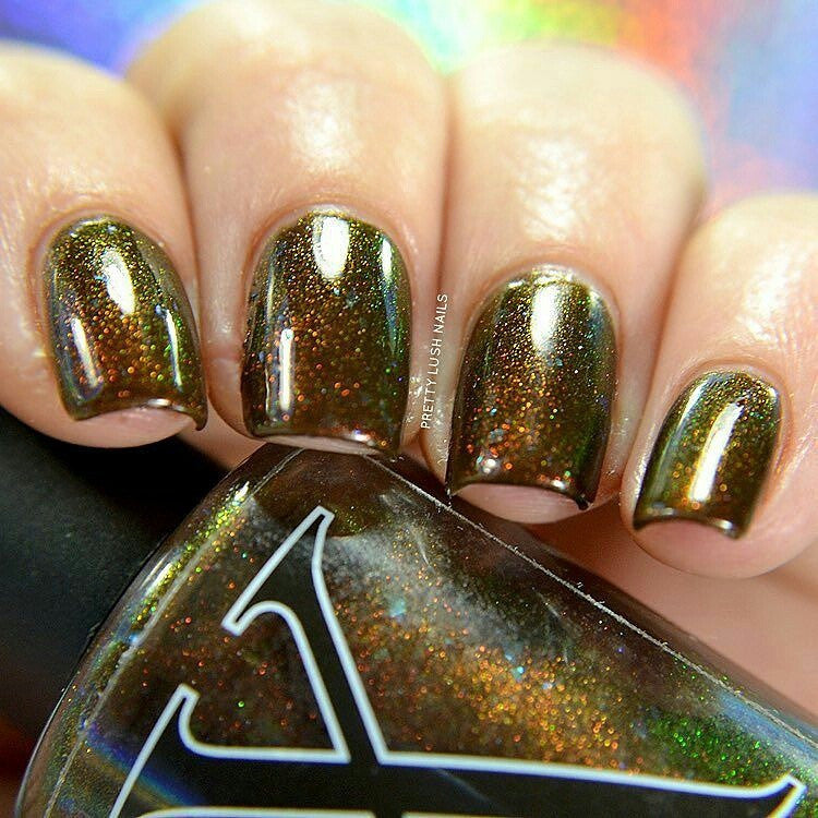 Sequoia Gigantea - Chocolate Brown Jelly Polish with Flakies and Red ...