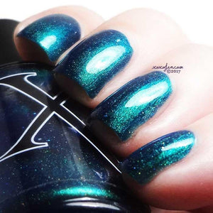 Nail Polish - Tesseract - Teal Multichrome With Holo Flakies