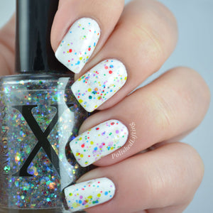 Nail Polish - Twinkle Lights - Transparent Glitter Nail Polish Topper