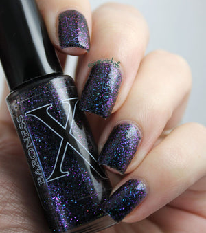 Nail Polish - Vashta Nerada - Shifty Black And Multichrome Microglitter Polish