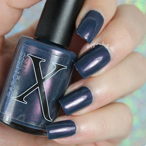 Nail Polish - Vespertine - Dark Blue Polish With Pink Shimmer