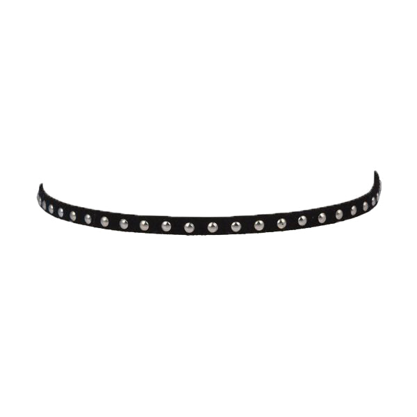 Black and Silver Stud Choker