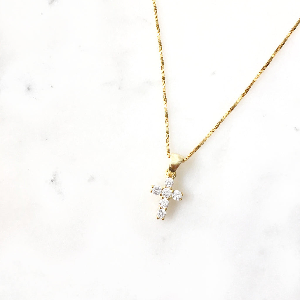 Luxe Mini Cross Necklace