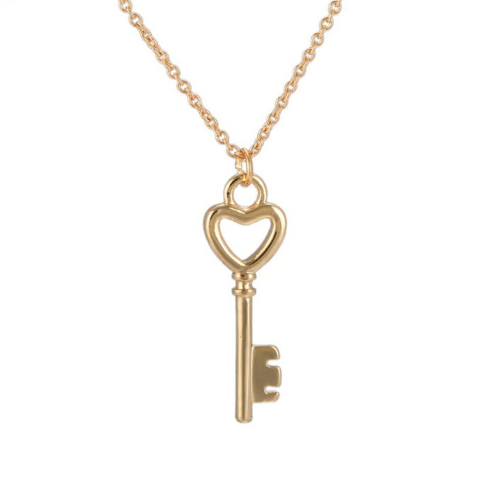 Heart Key Necklace