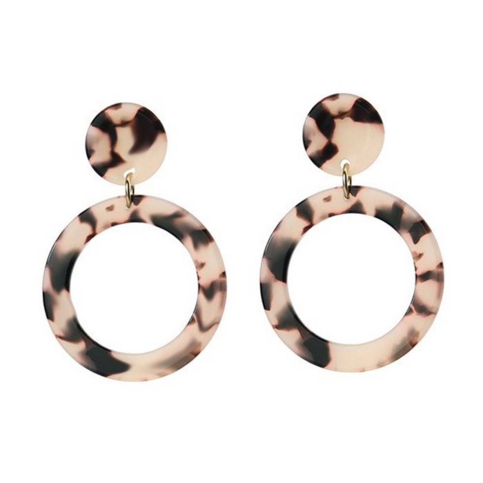 Melinda Tortoise Shell Earrings