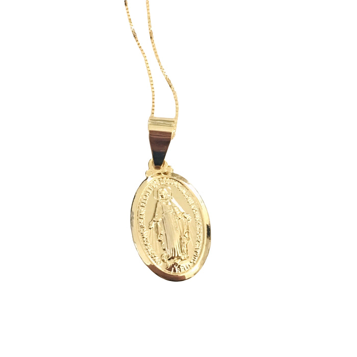 Small Virgin Mary Necklace
