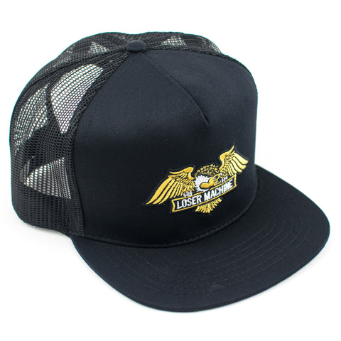 Loser Machine Condor Snapback Trucker Hat (Black)