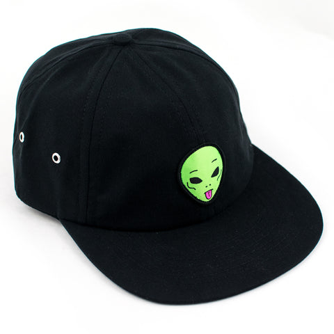 Rip N Dip We Out Here 6 Panel Strapback Hat (Black)