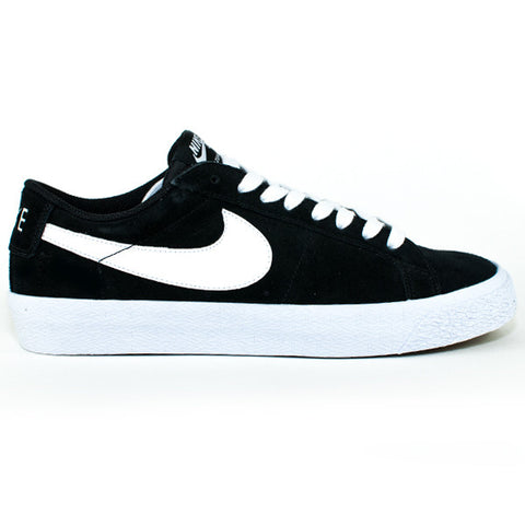 Nike SB Blazer Zoom Low Shoes (Black/White/Gum)