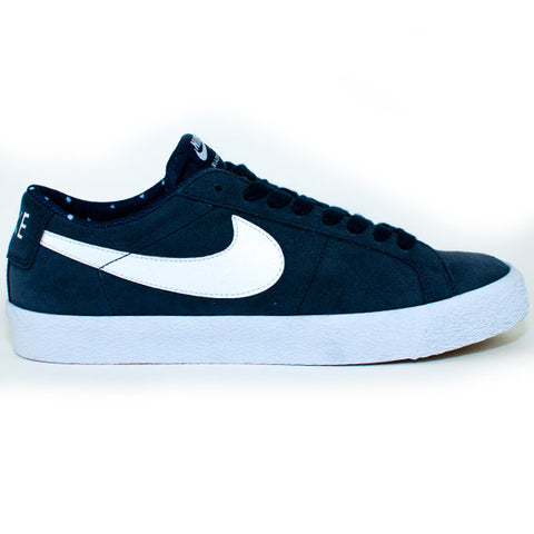 Nike SB Blazer Zoom Low Shoes (Blue/White/Gum)