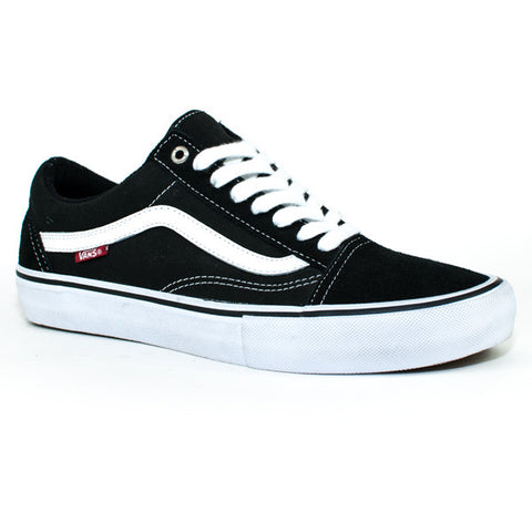 Vans Mens Old Skool Pro Shoes (Black/White/Red)