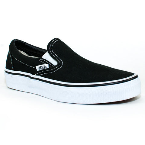 Vans Mens Classic Slip On Shoes (Black/White)