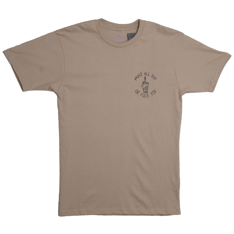 Skate All Day O.F.U. S/S Tee (Khaki)