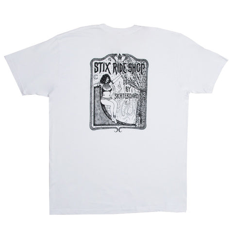 Stix X Hauk Death By Skateboarding S/S Tee (White/Black)