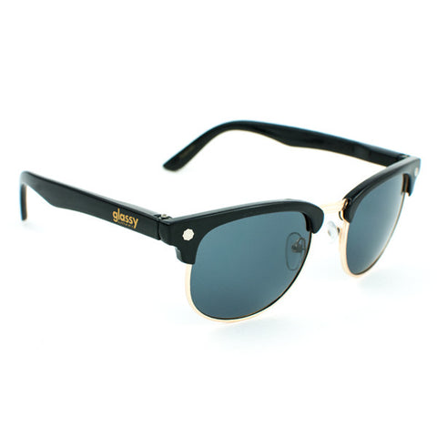 Glassy Morrison Sunglasses (Black/Gold/Polarized)