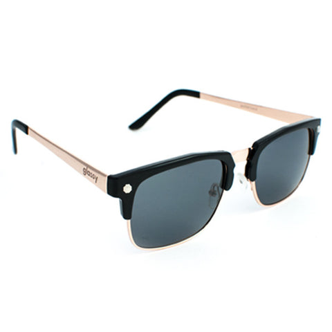 Glassy P-Rod Sunglasses (Black/Gold Polarized Lens)