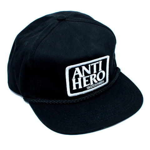 Anti Hero Reserve Patch Unstructured Snapback Hat (Black)