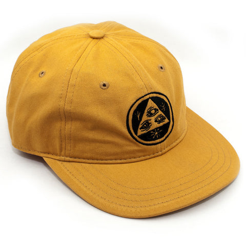 Welcome Talisman Unstructered 6-Panel Slider Hat (Gold/Black)
