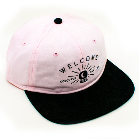 Welcome Dark Energy Unstructered Slider Strapback Hat (Pink/Black)