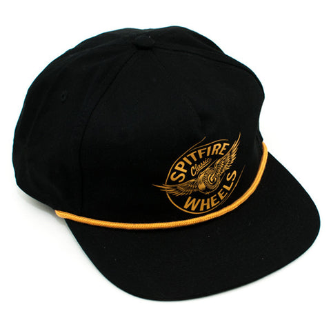 Spitfire Flying Classic Unstructered Snapback Hat (Black)