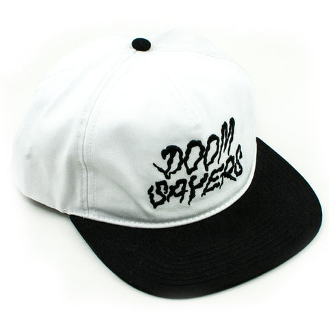 Doom Sayers Squiggles Snapback Hat (White/Black)