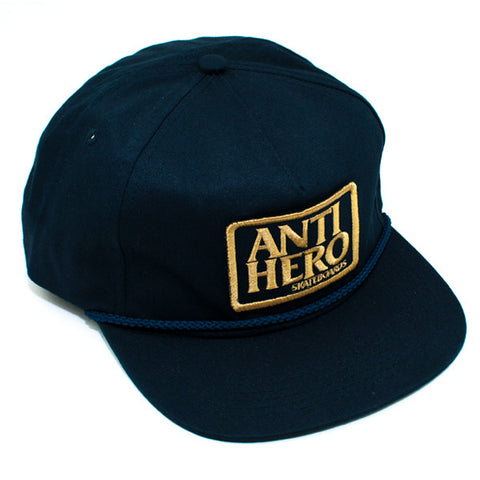 Anti Hero Reserve Patch Snapback Hat (Navy)