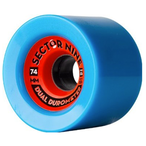 Sector 9 Dual Durometer Wheels (74mm/80aout/85ain/Blue)