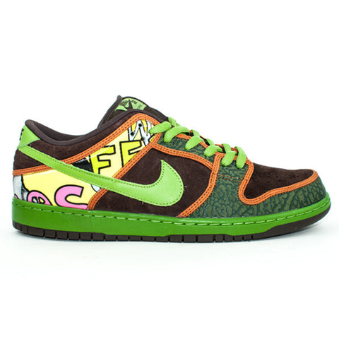 Nike SB QS 'De La Soul' Dunk Low Premium Shoes (Green/Brown)