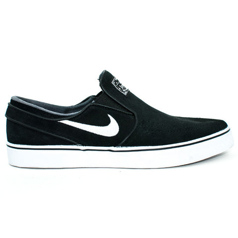 Nike SB Zoom Stefan Janoski Slip Shoes (Black/White)