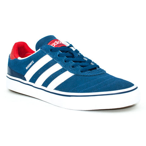 Adidas Busenitz Vulc Adv Shoes (Blue/White/Red)