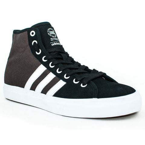 Adidas Matchcourt High RX Shoes (Black/White/Chocolate)