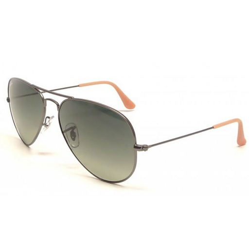 Ray Ban Aviator Tm Large Metal Sunglasses (58f/Matte Gunmetal/Grey Lens)