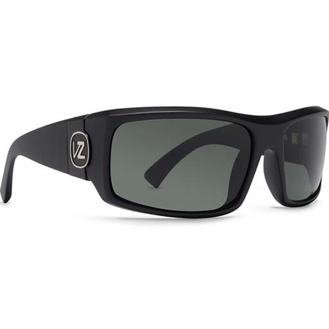 Von Zipper Kickstand Sunglasses (Black Satin/Grey Lens)
