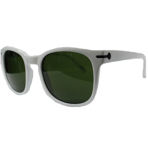 Electric Rip Rock Sunglasses (Gloss White/Grey Lens)