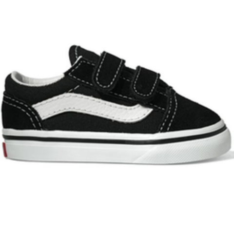 Vans Toddler Old Skool V Shoes (Black)
