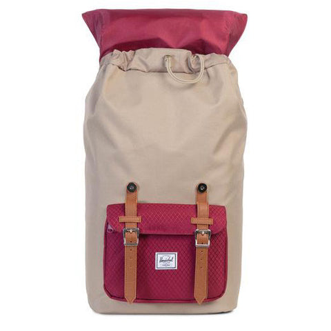 Herschel Little America Poly Backpack (Brindle/Wine)