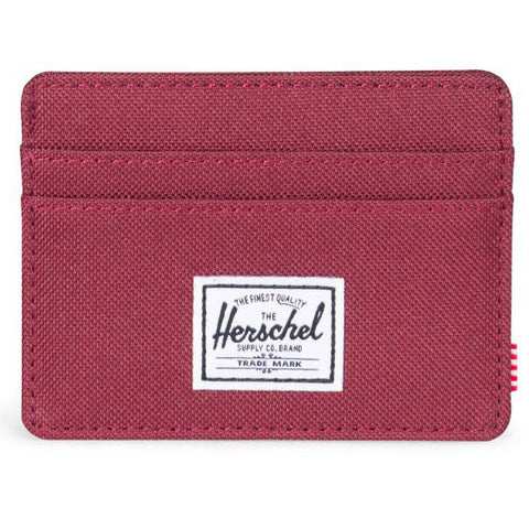 Herschel Charlie + 600D Poly Wallet (Windsor Wine)