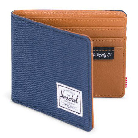 Herschel Hank + 600D Poly Wallet (Navy/Tan)