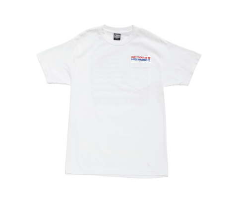Loser Machine Dont Tread Pocket Tee (White)