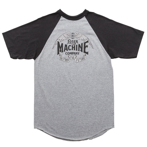 Loser Machine Wingspan S/S Henley Tee (Grey/Black)